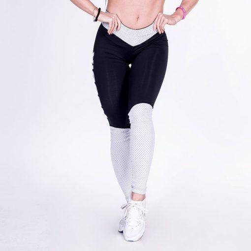 Fitness Leggings Zwart Wit – Nebbia Leggings 280-1
