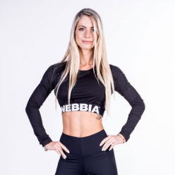 Fitness Longsleeve Crop Top Zwart - Nebbia Crop Top 269-1