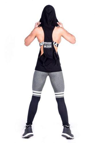 Hooded Singlet Zwart - Nebbia 473-2