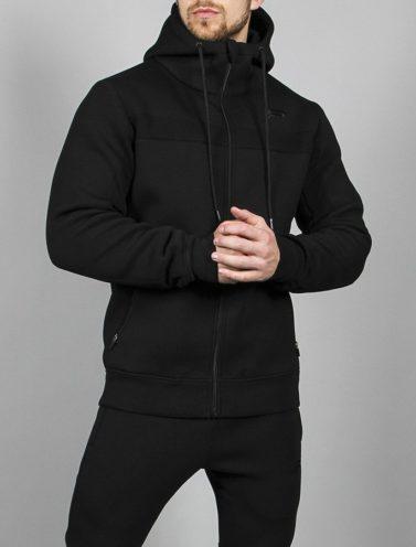 Fitnes Jacket Hybrid Zwart - Pursue Fitness voorkant