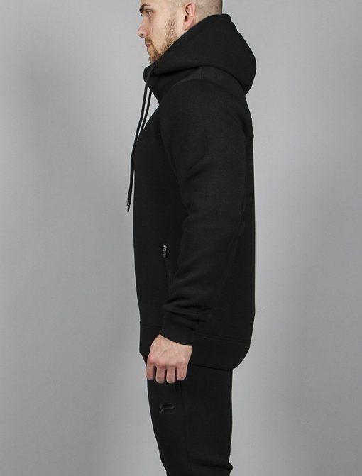 Fitnes Jacket Hybrid Zwart - Pursue Fitness zijkant