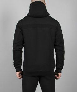 Fitnes Jacket Hybrid Zwart - Pursue Fitness achterkant