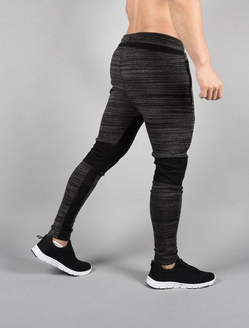 Fitness Broek Tapered Zwart-Grijs - Pursue Fitness zijkant