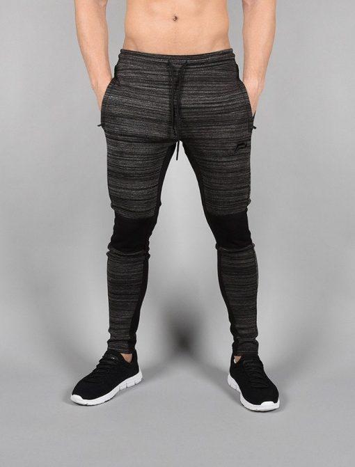 Fitness Broek Tapered Zwart-Grijs - Pursue Fitness voorkant