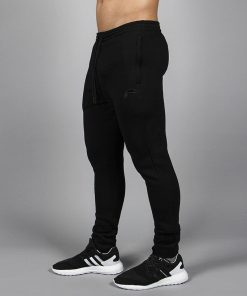 Fitness Broek Tapered Zwart - Pursue Fitness zijkant