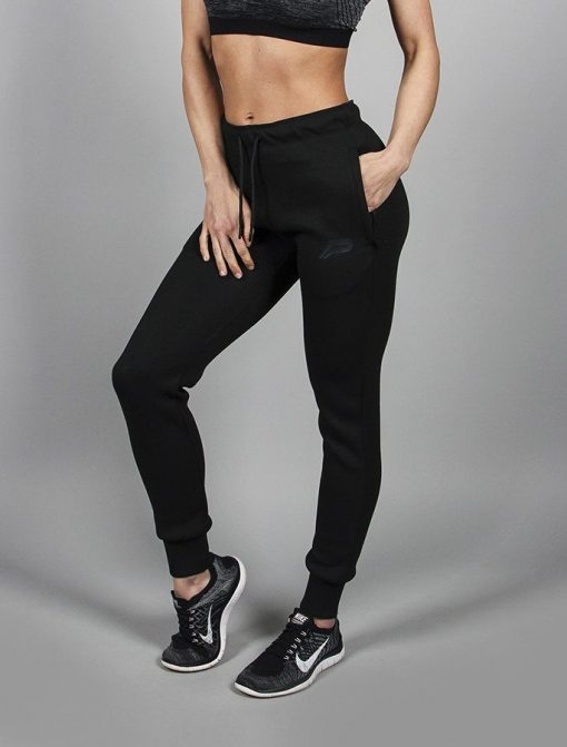 Fitness Broek Tapered Zwart - Pursue Fitness Vrouwen-1