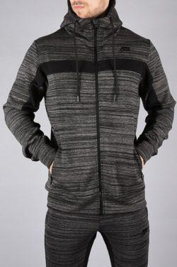 Fitness Jacket Hybrid Zwart-Grijs - Pursue Fitness voorkant