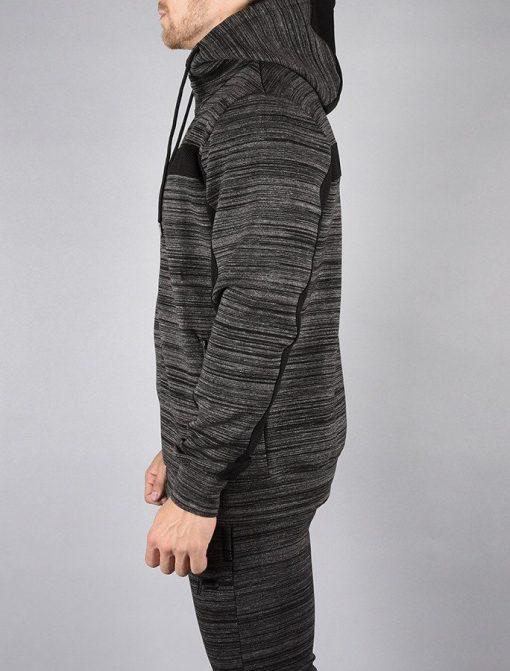 Fitness Jacket Hybrid Zwart-Grijs - Pursue Fitness zijkant