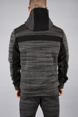 Fitness Jacket Hybrid Zwart-Grijs - Pursue Fitness achterkant