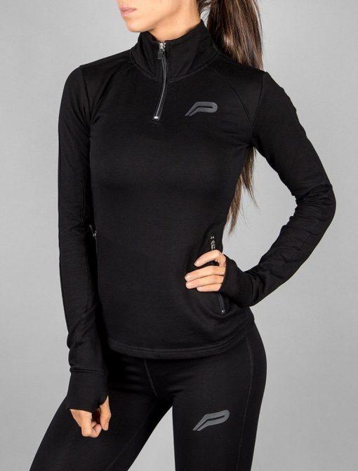 Fitness Jacket Zwart - Pursue Fitness-2