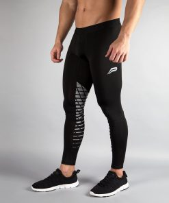 Fitness Legging Mannen Zwart - Pursue Fitness voorkant