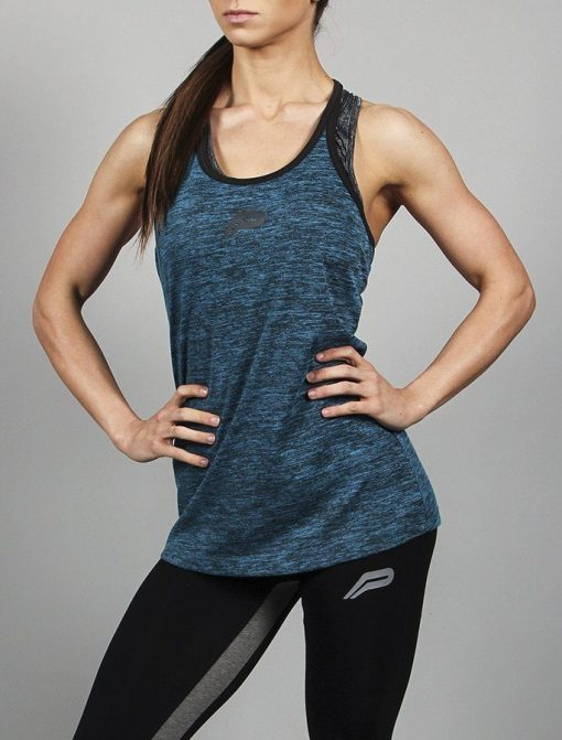 Fitness Singlet Blauw - Pursue Fitness-1