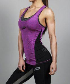 Fitness Singlet Slub Paars - Pursue Fitness voorkant