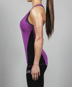 Fitness Singlet Slub Paars - Pursue Fitness zijkant