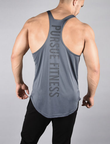 Fitness Stringer BreathEasy Grijs - Pursue Fitness achterkant