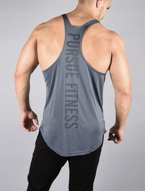Fitness Stringer BreathEasy Grijs - Pursue Fitness achterkant