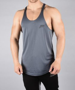Fitness Stringer BreathEasy Grijs - Pursue Fitness voorkant