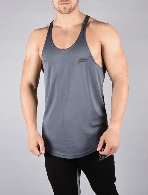 Fitness Stringer BreathEasy Grijs - Pursue Fitness voorkant