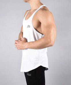 Fitness Stringer BreathEasy Wit - Pursue Fitness zijkant