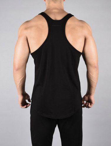 Fitness Stringer Pro-Fit Zwart - Pursue Fitness achterkant