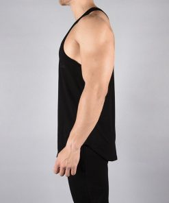 Fitness Stringer Pro-Fit Zwart - Pursue Fitness zijkant