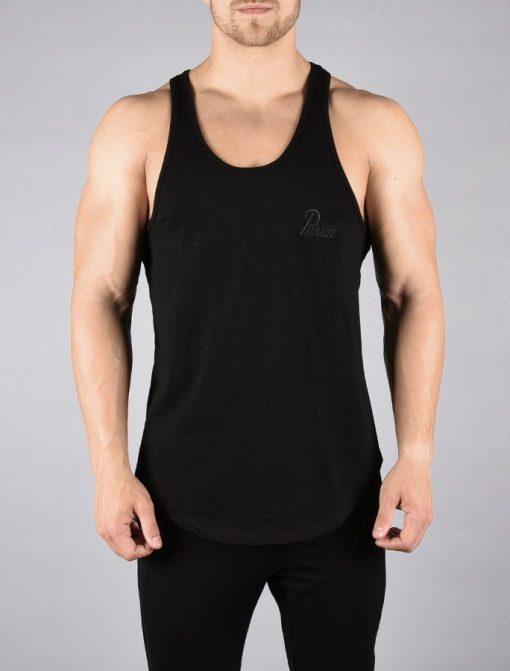 Fitness Stringer Pro-Fit Zwart - Pursue Fitness voorkant