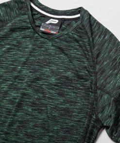 Fitness T-Shirt Slub Zwart Groen - Pursue Fitness detail