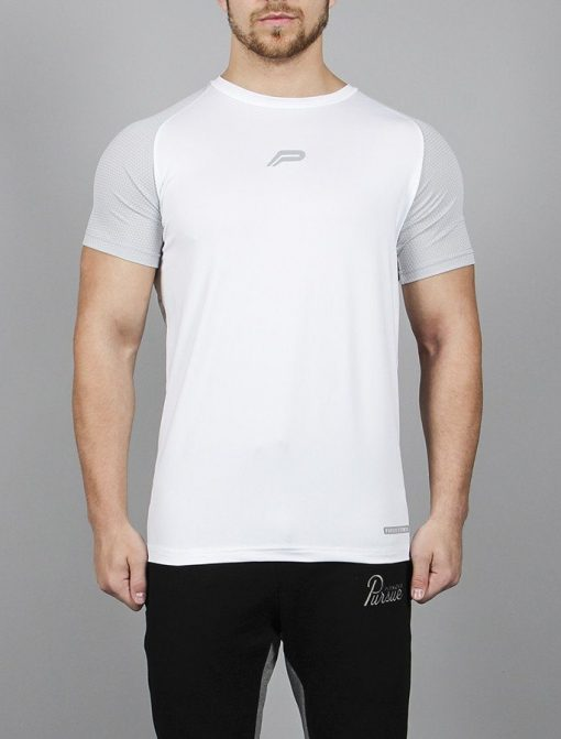 Fitness T-shirt BreathEasy Wit - Pursue Fitness voorkant