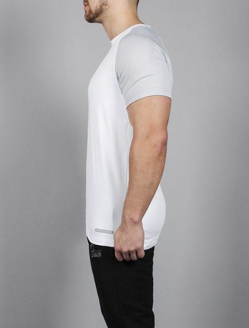 Fitness T-shirt BreathEasy Wit - Pursue Fitness zijkant