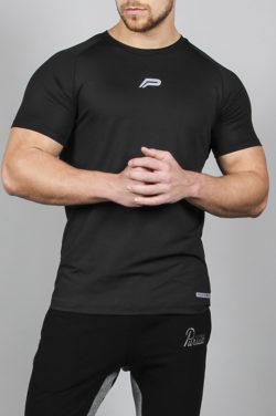 Fitness T-shirt BreathEasy Zwart - Pursue Fitness voorkant