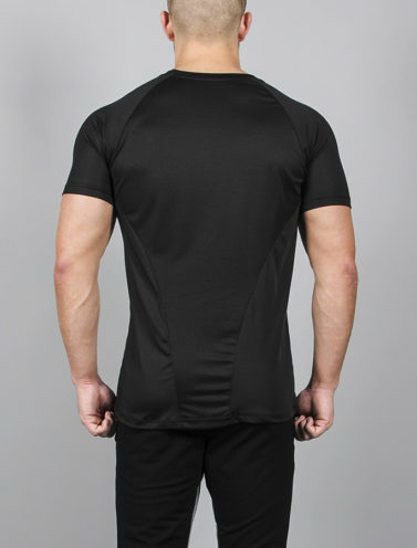 Fitness T-shirt BreathEasy Zwart - Pursue Fitness achterkant