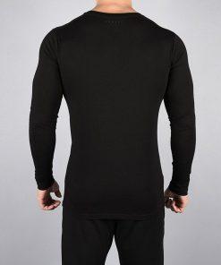 Fitness Longsleeve Pro-Fit Zwart - Pursue Fitness achterkant