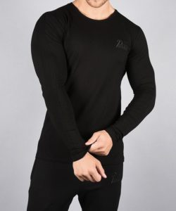 Fitness Longsleeve Pro-Fit Zwart - Pursue Fitness voorkant
