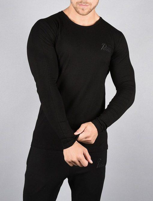 Fitness Longsleeve Pro-Fit Zwart - Pursue Fitness voorkant