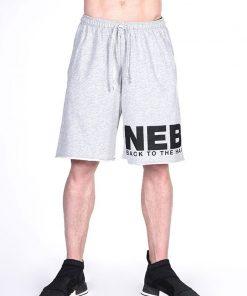 Fitness Shorts Grijs Nebbia Shorts 343 voorkant