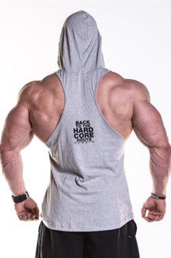 Fitness Singlet Hard Hoodie Grijs - Nebbia Singlet 374 achterkant