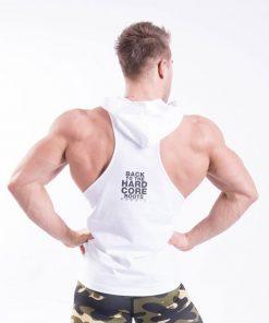 Fitness Singlet Hard Hoodie Wit - Nebbia Singlet 374 achterkant