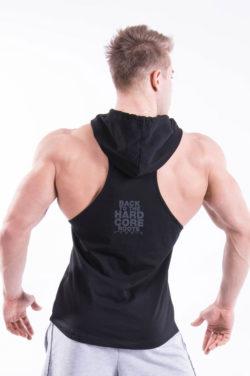 Fitness Singlet Hard Hoodie Zwart - Nebbia Singlet 374 achterkant