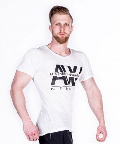 Nebbia V-neck T-Shirt 127 – Bodybuilding T-Shirt Wit-1