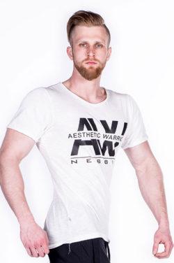Nebbia V-neck T-Shirt 127 – Bodybuilding T-Shirt Wit-1