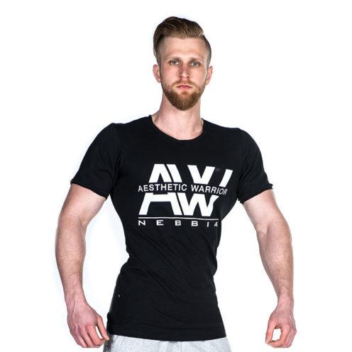 Nebbia V-neck T-Shirt 127 – Bodybuilding T-Shirt Zwart-1