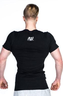 Nebbia V-neck T-Shirt 127 – Bodybuilding T-Shirt Zwart-2