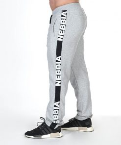 Bodybuilding Sweatpants Grijs - Nebbia Sweatpants 366 zijkant