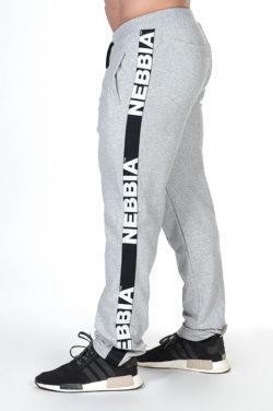 Bodybuilding Sweatpants Grijs - Nebbia Sweatpants 366 zijkant