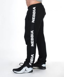 Bodybuilding Sweatpants Zwart Nebbia Sweatpants 366 zijkant