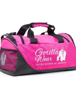 bodybuilding-tas-roze-zwart-gorilla-wear-santa-rosa-gym-bag-voorkant-3