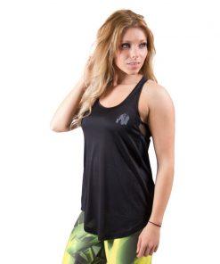 dames-tank-top-zwart-grijs-gorilla-wear-santa-monica-voor-1