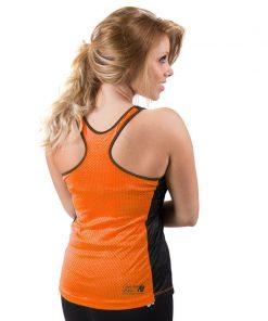 dames-tank-top-zwart-oranje-gorilla-wear-marianna-achter-1