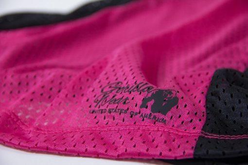 dames-tank-top-zwart-roze-gorilla-wear-marianna-detail-1