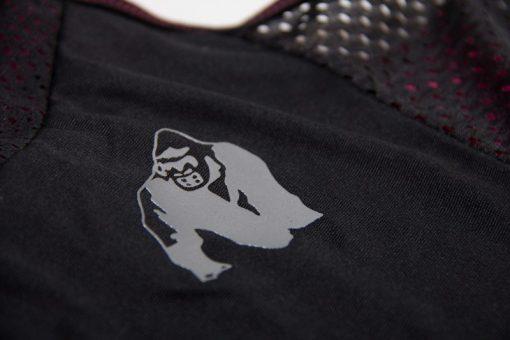 dames-tank-top-zwart-roze-gorilla-wear-marianna-detail-3